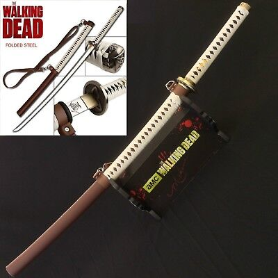 The Walking Dead Michonne's Samurai Full Tang Sharp Sword Katana w/ Stand