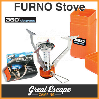 360 Degree FURNO Camping/Hiking Stove. 11900 BTU. Lightweight Canister Stove