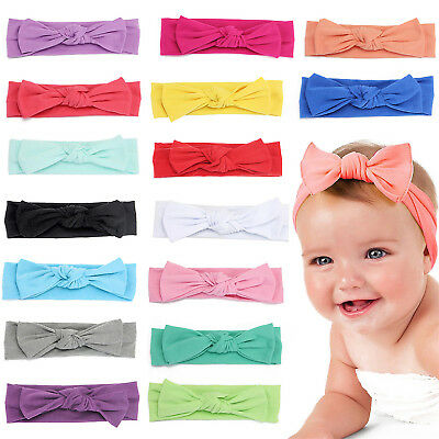 Newborn Baby Toddler Girl Bow Kid Turban Knot Rabbit Headband Headwear  HIGH