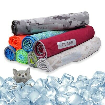 High-quality Cooling Towel Cool Fabric Sport Gym Yoga Exercise 8 colour optional