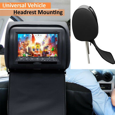 All-in-one Car Headrest Monitor w/ DVD Player USB Remote SD Game Headphone Plug