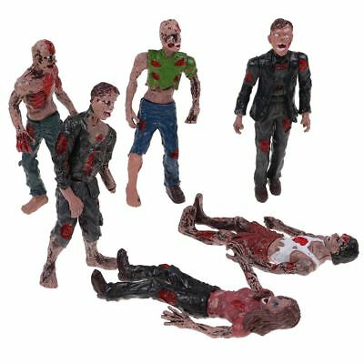 Set 6Pcs Walking DEAD Corpses Movie Characters Action Zombie Figures Kid Toy HOT