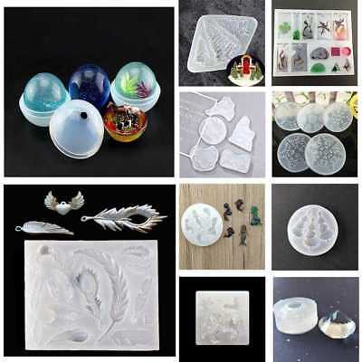 DIY Clear Silicone Mold Making Jewelry Pendant Resin Casting Mould Craft