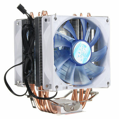 92mm 3 Pin Blue LED Copper CPU Cooler Cooling Fan Heat Sink for Intel