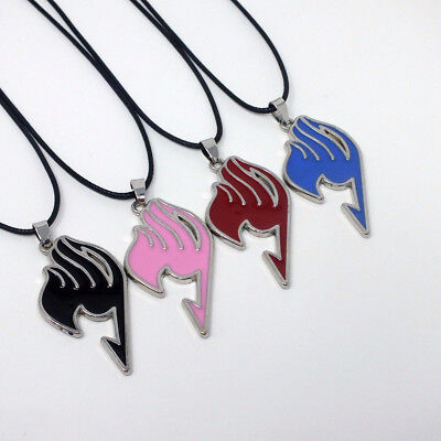 Anime Fairy Tail Logo Metal Pendant Necklace Cosplay Charm Jewellery Alloy Gifts