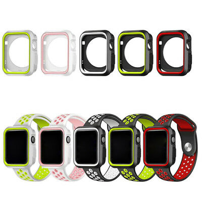 for Apple Watch Series 3/2/1 38mm 42mm silicone case rubber cover for iwatch KY