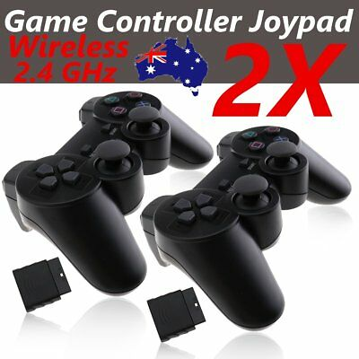 2X Dual Shock Wireless Game Controller Joypad Gamepad For Sony Playstation 2 PS2