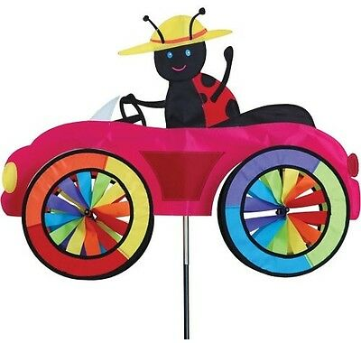 Ladybug Ladybird on Car wind spinner Premier Kites Garden decoration