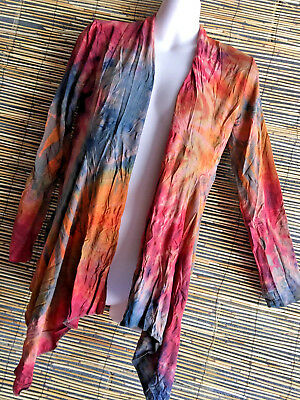 Lot of 5 spandex jackets.flattereing collar.one fit.colors.hippie boho design