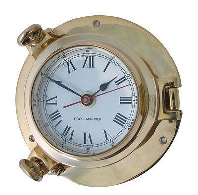 Brass Ships Porthole Clock - Solid Brass - Small - New - Z16