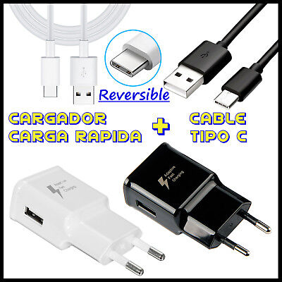 Cargador De Carga Rapida Cable Usb Tipo C Para Movil Galaxy S8 S9 + / Note 8 9