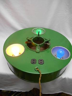 Old ELECTRIC METAL Christmas Tree Stand BELMONT TREELITER 3 Bulbs,2outlets,Label
