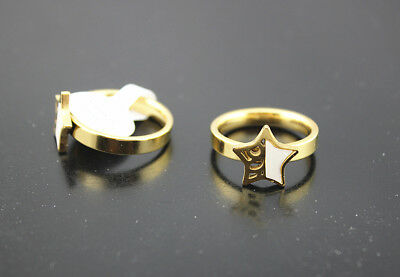 Job Lots 25pcs Stainless steel Star Design Shell Women's Gold P Pretty Rings