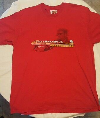 Rare Red Dale Earnhardt Jr #8 T-Shirt Winners Circle NASCAR Two Sided Budweiser