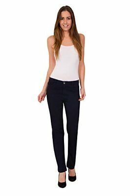Ex M&S Women Ladies Mid Rise Jeans Straight Stretch Pants 6-24 Mark Spencer UK
