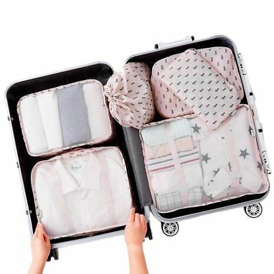 Arxus 6 Set Packing Cubes Travel Luggage Waterproof Organizers - (Cactus Print)