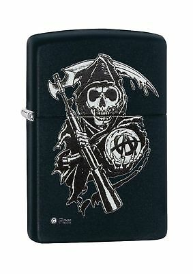 Zippo Sons of Anarchy Lighters Black Reaper Matte