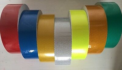 High Quality High Intensity Hi Vis Viz Reflective Tape Vinyl Self-Adhesive UK