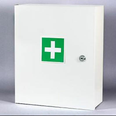 New First Aid Medical Cabinet Wall Mount Case Stainless Steel Lockable Safe Box