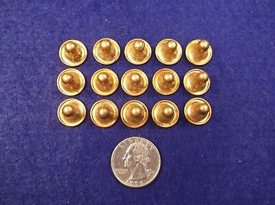 #1, Nice Lot Of 15 Nos Matching Vtg Antique Gold Plated/filled Mens Collar Studs