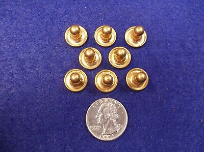 #3, Nice Lot Of 8 Nos Matching Vtg Antique Gold Plated/filled King Collar Studs