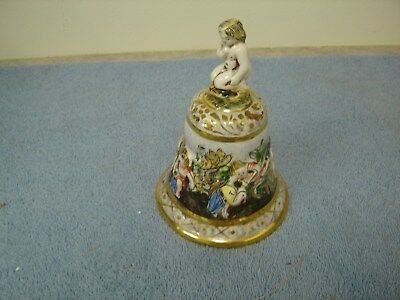 Capodimonte Porcelain Bell - Children Playing - Marked #135