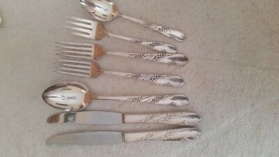 BRIDAL WREATH Silverplate flatware Mixed lot 1950, Collectible, Oneida Tudor