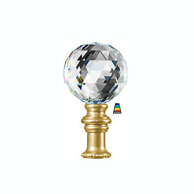 Swarovski Strass LAMP FINIAL - 40mm Crystal Clear Ball - Choice 5 Metal Finishes