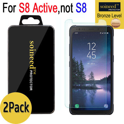 [2-PACK] SOINEED Samsung Galaxy S8 ACTIVE Tempered Glass Screen Protector Saver