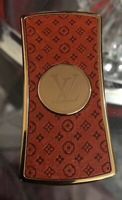 Louis Vuitton Leather & Brass Wind Proof Gas Lighter  Great Gift All Smoker, Uk