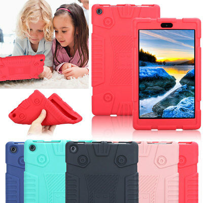 Kids Shockproof Soft Silicone Case Cover For Amazon Kindle Fire 7 HD 8 7th Gen