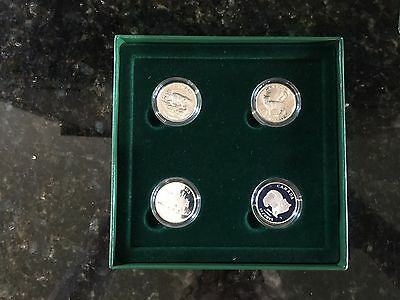 Set Mint original box 1999 Canada Sterling Silver 50 cent Cat coins Discovering
