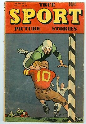 True Sport Picture Stories Vol. 4 No. 11 Jan.-Feb. 1949  Good/vg