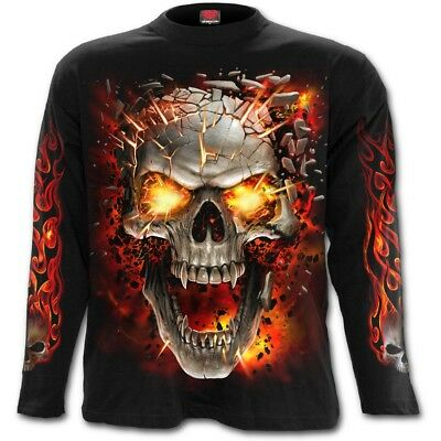 Spiral Direct SKULL BLAST - Long sleeve T-Shirt Death/Flames/Horror/Skulls