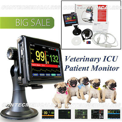 PM60A Veterinary ICU Patient Monitor Vital Signs SPO2 Pulse Rate,Touch,software