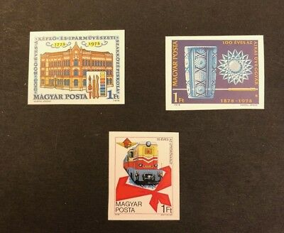 Hungary Scott No. 2521, 2531, 2535 MNH Imperforate Imperf Imp Stamps of 1978