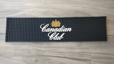 Canadian Club pvc rubber bar mat runner barmat coaster