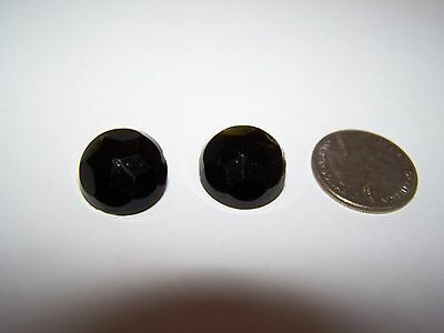 """BLACK GLASS or PORCELAIN and METAL BUTTONS 5/8"""""""