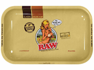 RAW GIRL NEW Style METAL Rolling Tray 11 x7 Limited edition