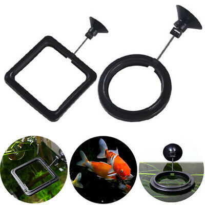 Feeding Ring Aquarium Fish Tank Station Floating Food Tary Feeder Black Blue