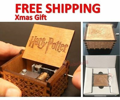 AU Hot GAME OF THRONES / Harry Potter Engraved Wooden Music Box Crafts Xmas Gift