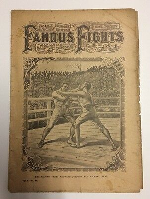 1900s Famous Fights Boxing Newspaper #62 Johnson vs Michael Ryan Cover