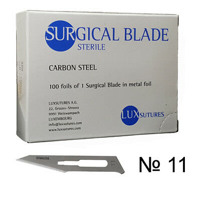 Dental Carbon steel surgical blade scalpel 100 pcs sterile Luxembourg №11