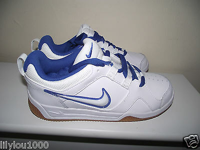 Nike White Royal Leather Womens Girls  Trainers Size 4 New