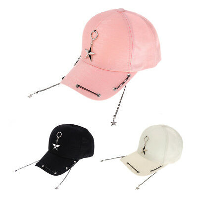Men's, Woman's,Unisex,Baseball Hats,Star chain peaked cap hip-hop caps