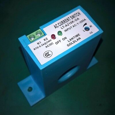 Normally Open Current Sensing Switch AC 1-200A Adjustable For Motor protection