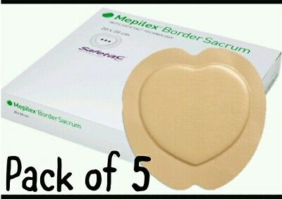 1@1R Mepilex Border Sacrum Sacral Dressings 5 Pack18cm x 18cm - Wounds Ulcers