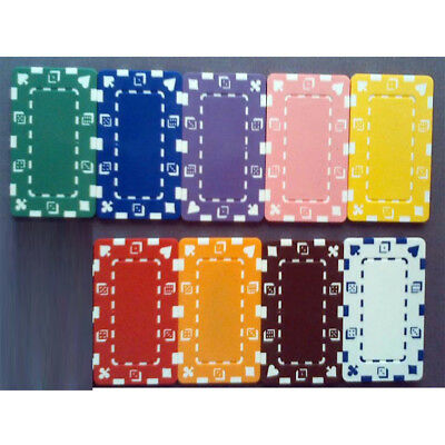 50 poker chip plaques choice of 10 colors