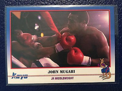 "1991 KAYO Boxing #236  John ""The Beast"" Mugabi- Uganda  MINT!"