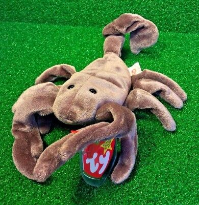 "Retired 1997 Ty Beanie Baby ""Stinger"" The Scorpion Beanie Babies Collection MWMT"